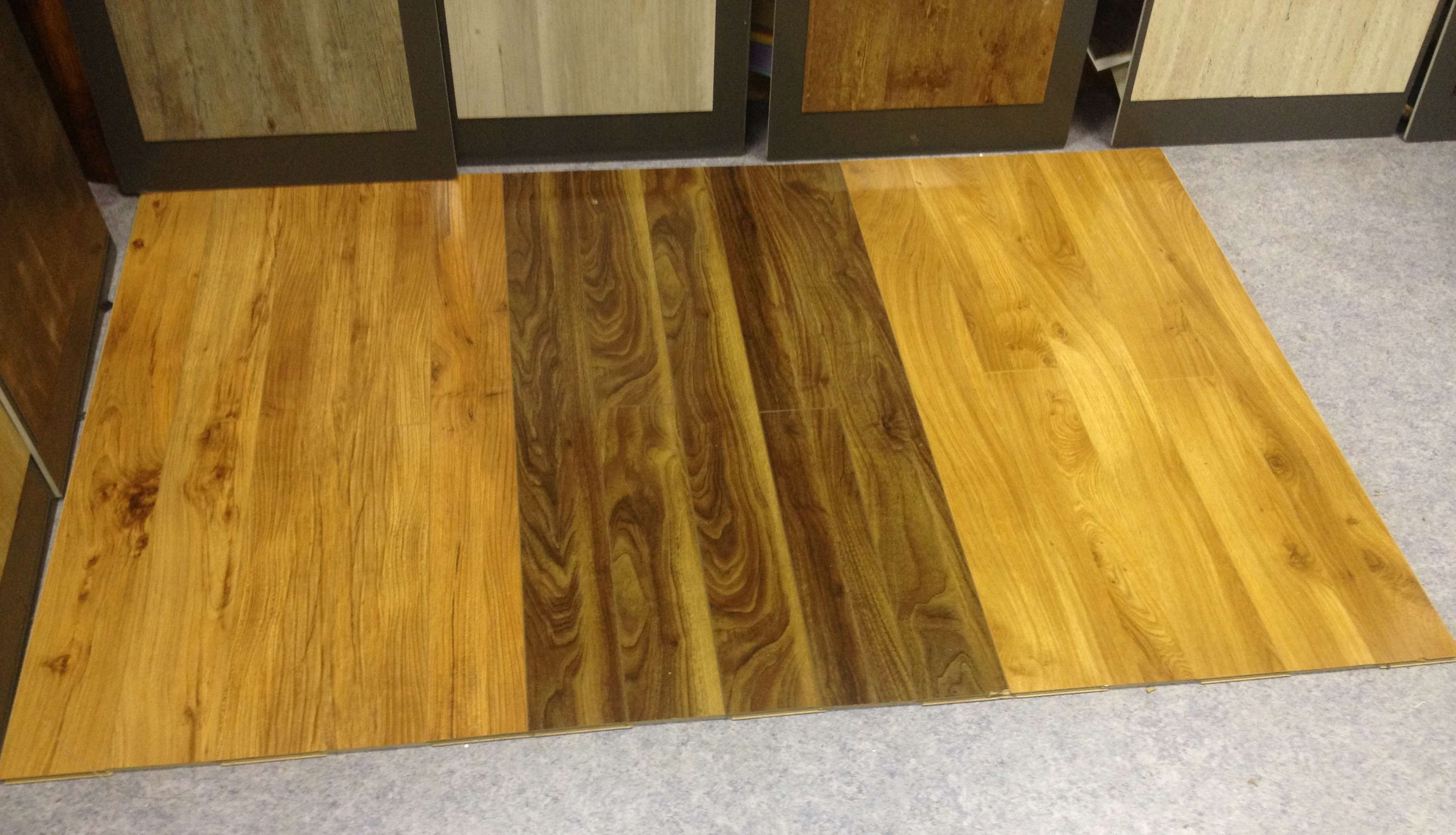 Laminate hardly floors for Laminate flooring displays
